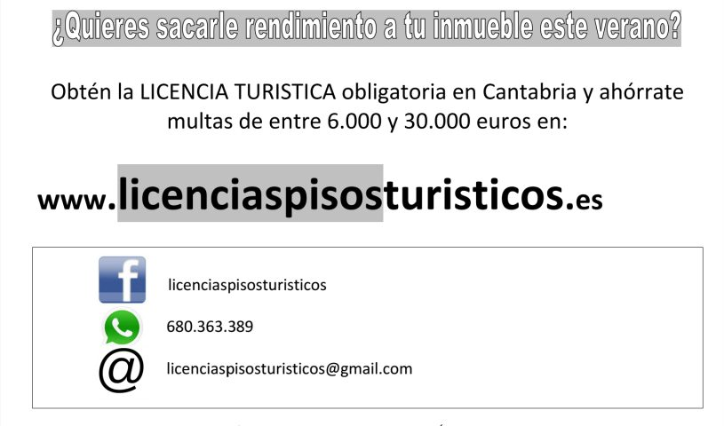 licencia turistica cantabria